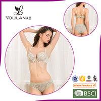 Fancy Design Plus Size Front Closure Bra And Panty Set