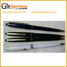 Promotional White and Black High Quality Roller Metal Ballpoint Pen