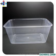 1000 ml cuadrado venta al por mayor caja de plástico, almuerzo personalizado cajas de plástico desechable envase de alimento