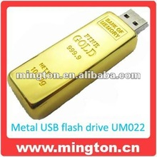 Promo gift usb flash gold bar