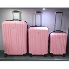 Alta calidad rosa amable policarbonato PC 4 ruedas baratas maletas