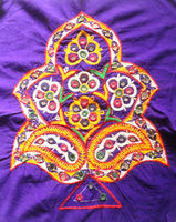 KTPA-20 mirror work unique Kacchi handwork Designer New embroidery designs banjara multi purpose sew on patches from Jaipur