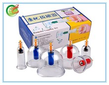 KZ-B1-6 cupping set with pump -Set of 6 cups + 4 magnetic probes/Kangzhu Cupping Kit