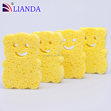 100% Cellulose Fiber Material! Natural sensitive cellulose skin sponge