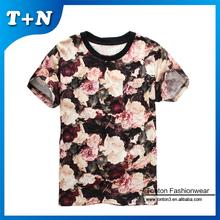 Chine personnalise tissu imprimé t-shirt