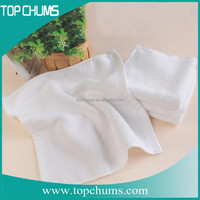 light White Terry cotton disposable towel for hair-disposable hair salon towel-disposable hair salon towel