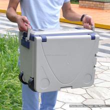 Plastic ice box with wheel/outdoor ice cooler box/plastic ice box