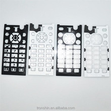 Waterproof over-molding PET sheet silicon rubber keypad with silkscreen printing for mobile phone