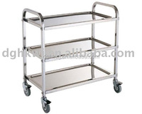 3 Tiers Stainless Steel Trolley for Restaurant or Kitchen Use