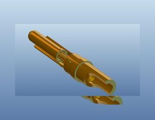 Spring loaded contact pins spring lock pins test probe pin