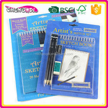 Ningbo wooden body standard sketch pencil, natural wood pencil, portable drawing pencil