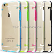 """For Apple iphone 6 TPU clear double color case for iPhone 6 4.7"""", Phone case 10 colors factory price"""