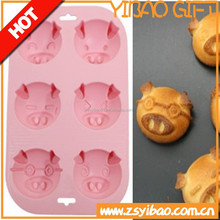 Customs design 100%food grade cake Silicon cooking mould