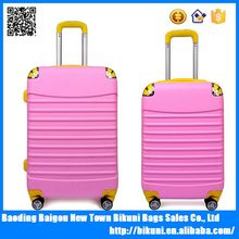 High quality New 20 24 inches pink PC travel colorful universal wheel luggage for men and women