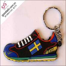 PVC keychain manufacturer customized 3d logo running shoe keychain