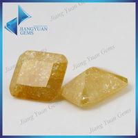2013 Top sale product princess cut golden yellow facet flat back cubic zirconia