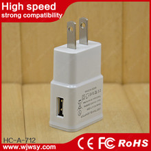 Factory Supplier 5V 2A US Plug Mobile Charger For Samsung Mobile Phone Universal Travel Adapte With USB Charger