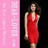 wholesale women summer design hot red Bandage Dress