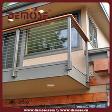 Moda pré-fabricada metal corrimão da escada ou preço do medidor corrimão de ferro