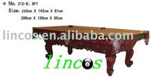 hard solid birch wood + slate billiard table