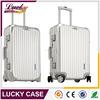 Hardshell customed Aluminum luggage with retractable wheels