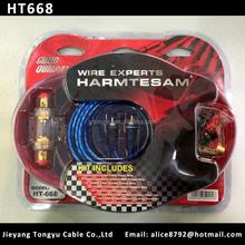 High end Car Amplifier Wiring Kit 6GA AMP Wiring kits (HT668)