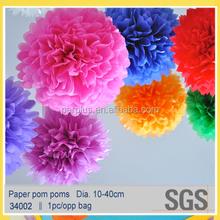 halloween decoration promotional tissue paper pom poms flower balls