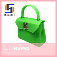 2015 factory new products durable silicone purse handbag for girls rubber tote bag