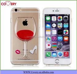 TPU Cocktail liquid cover for apple iphone 6 plus