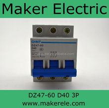 electrical chint circuit breaker DZ47-60 3P D40