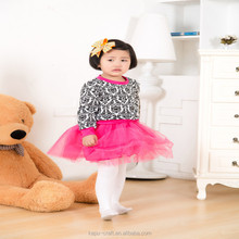 New fashion baby girls boutique outfits children clothes set T-shirt And Skirt 2 Pcs Suit