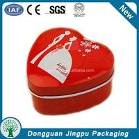 Heart Shape eco-friendly metal jewelry box