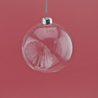 hanging clear glass ball for christmas ornaments