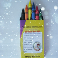cheap high quality cartoon small size wax crayons for kids