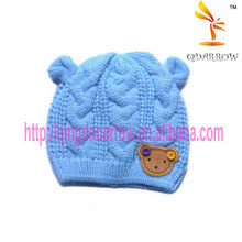 solid color knitted baby hat