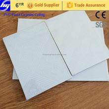 Decorative 60x60 Laminated PVC Gypsum Ceiling tile