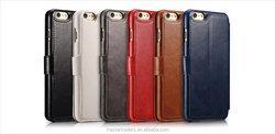 Original Icarer Stand Holder Wallet Flip PU Leather Case With Card Slot For Iphone 6 4.7 MT-3499