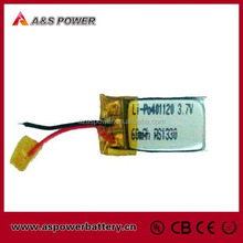 Rechargebale ul approved 401120 li-polymer battery 3.7v 60mah for bluetooth headset