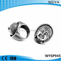 Wholesale stainless steel rings for men buddha head ring