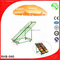 metal fruit and vegetable display for supermarket