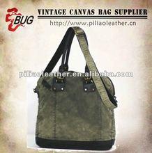 2012 latest cotton satchel bag/cotton handbag/vintage cotton shoulder bag