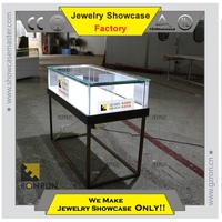 Beautiful used glass display cases for jewelry shop interior design