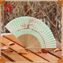 Ventilador de la danza de seda y bambú de mano abanico plegable GYS801-2