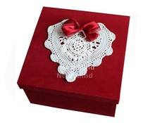 OEM/ customized Red Sturdy paper gift packaging box in China