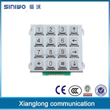100% zinc alloy CE approved standalone regular free phone keypad