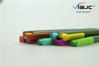 Unique design colorful clip stationery press plastic ballpoint pen in factory price