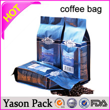 Yason food packaging pouch stand up plastic zip lock coffee bag