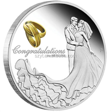 factory price custom wedding coins with silver plated