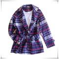Largo abrigo / ropa de lana diseños para damas / abrigo de lana abrigo de terciopelo falso señora manera