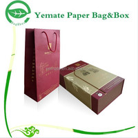 Packaging Box Factory! high quality competitive price custom logo printed paper carton gift wine packaging bag in box